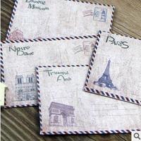 Retro European Style Paris Architecture Paper Envelope Gift Envelope Mini 10pcs/set/gift/wholesale,100sets/lot