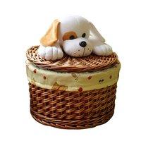Cartoon Laundry Barrels Wicker Storage Basket