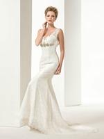Fall 2014 sexy backless deep V ShanZuan small tail wedding dress gy141