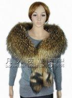 Large raccoon fur collar cape fur scarf fashion ultralarge