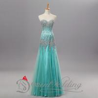 2015 100% Real Photo Prom dress In Stock Free Shipping Cheap Heavy Crystal Beading Backless Elegant Chiffon Hot 10