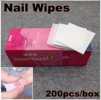 200 Pcs/Box Professional Lint Free Nail Wipes Soft Cotton Nail Wipe Polish Remover + Free Shipping (NR-WS8)