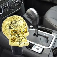 Christmas present Universal Gear Shifter Knob Resin Golden Skull Shift knob Skeleton Car Truck Auto Shift Lever Knob #4516