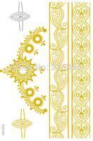 Hot New 200 designs 2015 high quality gold tattoo, lace tattoo, best selling tattoo sticker, golden tattoo sticker 1Piece / Lot