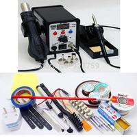 ATTEN 8586 2 in 1 AT8586 Hot Air Rework Solder Station Heat Gun + Electric Soldering Iron Desoldering Welding Machine With Gifts
