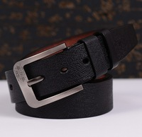 Black/coffee/brown Top Grade Faux Leather Pin Buckle Men's Belt, Vintage Brand Male Strap Classic Causal Line Man Belts