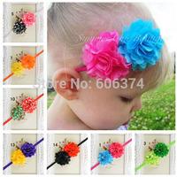 New Top Sale Newborn Photograph Props Baby Girls Mesh Flower Hairband Tiara Headband Baptism Headwear Thin Hair Accessory