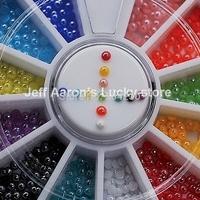 2MM Round Ceramic 3D Glitter Nail Art Rhinestones Wheel For Nail Tips Decoration Design Tools Accessories