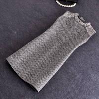 Wholesale European and American high-end women's new winter diamond chain handmade woolen blend dress epaulettes