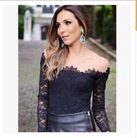 2015 Black Body See-through Lace Blouse,Women Mesh Slash Neck Long Sleeves Floral Renda Basic Shirt Tops Blusas femininas