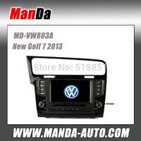 Manda 2 din car audio for Volkswagen New Golf 7 2013 in-dash dvd  player satellite gps all in one