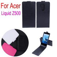 Free Shipping High Quality  Leather Case for Acer Z500 Up Down Open Cover Case for Acer Z500 Moblie Phone