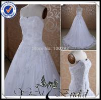 RSW435 Shoulder Off New Model 2014 Appliqued Lace Wedding Dress Patterns