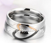 2015 Valentine's Day Popular Love Couple Rings Beauty Significent Jewelry Connected Heart Forever Rings