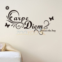 3d butterfly sticker home decorations quote wall decal vine flower rempvable mural art 45*43cm zooyoo8172 hot sellers