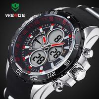 2014 WEIDE Brand Latest 30 Meters Waterproofed Analog Wristwatch Men Sports Watch Japan Quartz Movement Watches 1 Year Guarantee