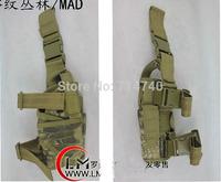 Tactical Rattlesnake Mandrake Outdoor Military Hunting Puttee Thigh Leg Pistol Gun Holster Pouch Bag Wrap-around for CS war game