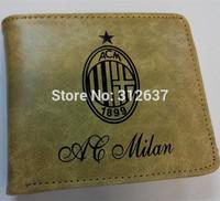 ac milan 7 teams Football club logo Men Women uefa champions league Football fans souvenirs Soccer wallets