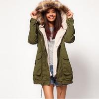 2014 winter jacket women brand faux fur collar lined coat trendy pea coat,plus size coats,abrigo de invierno las mujeres,WSY