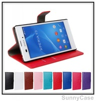 Retro Crazy Horse Wallet Leather Case for Sony Xperia T3 M50w