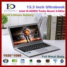 Newest  13.3″ 4200U Processor ultrabook i5 laptop with 8GB RAM +128GB SSD 1920*1080,Metal case, 6600mAh, Windows 8