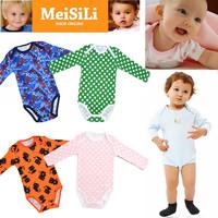 5Pcs/Lot MeiSiLi Unisex Newborn Baby Boy & Girls' Spring & Autumn Cotton Long Sleeve Bodysuit Clothing