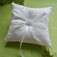 2015 High Quality Top Grade Elegance Satin Bow Custom Made Color Ring Holder 21cm Wedding Ring Pillow