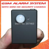 Hidden Mini HD security camera MMS/SMS GSM Alarm system,PIR Video Infrared Sensor,Motion Detection