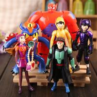 6pcs/set New 2015 Big Hero 6 Action Figure Toys Cartoon Movie Baymax PVC Model Toys Children's Toys Brinquedos Birthday