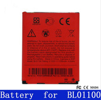 Free shipping high quality  1230mAh Cell Phone Battery BL01100 for HTC Desire C / A320E