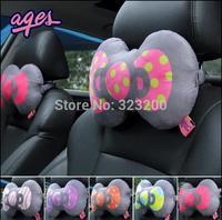 Car headrest cartoon neck pillow on a bone The cat creative automobile interior trim products A pair