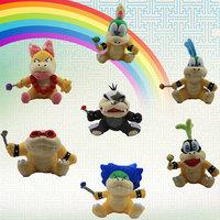 Free shipping 7styles Super Mario Bros Koopa Plush Toys Wendy LARRY IGGY Ludwig Roy Morton Lemmy O.Koopa cute doll