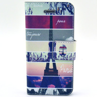 For iPhone 4/4s Fashion Stand Leather  Case Cover with Credit Card Slot #YB201412174s06