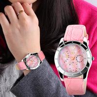 Free Shipping New High Quality Leather Strap Quartz watch Women Dress Watch Quartz Watches Casual