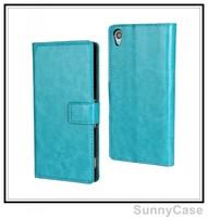Retro Crazy Horse Leather Wallet Case for Sony Xperia Z3 D6603, D6643, D6653, D6616