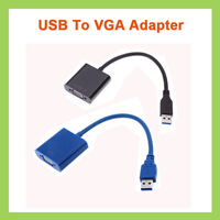 USB 3.0 to VGA Video Graphic Card Muilt-display External Cable Adapter For Laptop PC Windows 7/8