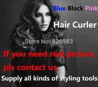 Free Drop Shipping,2014 Eu Plug Pro Perfect, Automatic Curls Professional Curler Hair Styler Pro  Titanium blue black