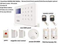 GSM SMS Home Security Burglar Alarm System Detector Sensor Remote Control,GSM security alarm,APP android,Pet PIR
