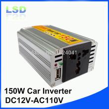 150 W 12 V 110 В DC переменный ток автомобильное зарядное устройство инвертор 50 HZ преобразователь с usb