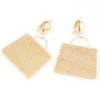 2014 European and American metal exaggeration bag temperament ear golden earrings for women/jewelry earings (no pierced ears)