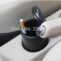 Universal Black Car Cigarette Holder LED Ashtray Auto Portable Car Cigarette Ashtray Car Styling