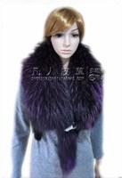 Raccoon scarf raccoon collar cape fur scarf muffler scarf raccoon