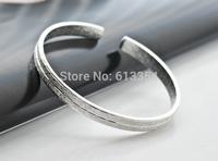 Free Shipping Fond Memories Silver Bangle 100% Guaranteed Simple Romantic Genuine 999 Fine Silver Cuff Bangle