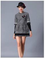 Small fragrant wind loose tweed dress