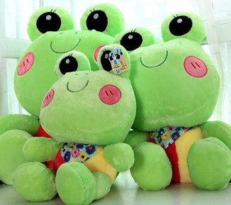 Free Shipping hot life size 65cm soft plush animals frogs big eyes lovely green frogs stuffed frogs doll valentine gifts(China (Mainland))