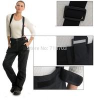 New arrival 2014 brand 2-layers outdoor sport ski suit pants women winter sportswear snowboard suspenders trousers