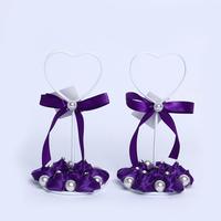 GAGA ! new arrival deep purple bud  iron place card holder for bride shower   30 pcs/lot , XA101-2