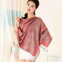 New India Style warm winter scarf silk fashion Cashew flowers print tassel women shawl scarves elegent bufandas Free shipping