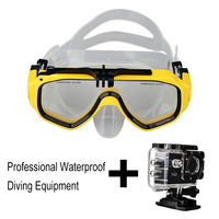170 Degree Wide-Angle HD 720P 30m Diving Camera with Mask Camera Mini Action Camera Sports Waterproof Diving Masks Camera
