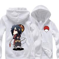 Naruto Uchiha Madara Cosplay Hoodies & Sweatshirts Zipper-up Coat Jacket Thick Warm Hooded Tops Costume Size M L XL XXL